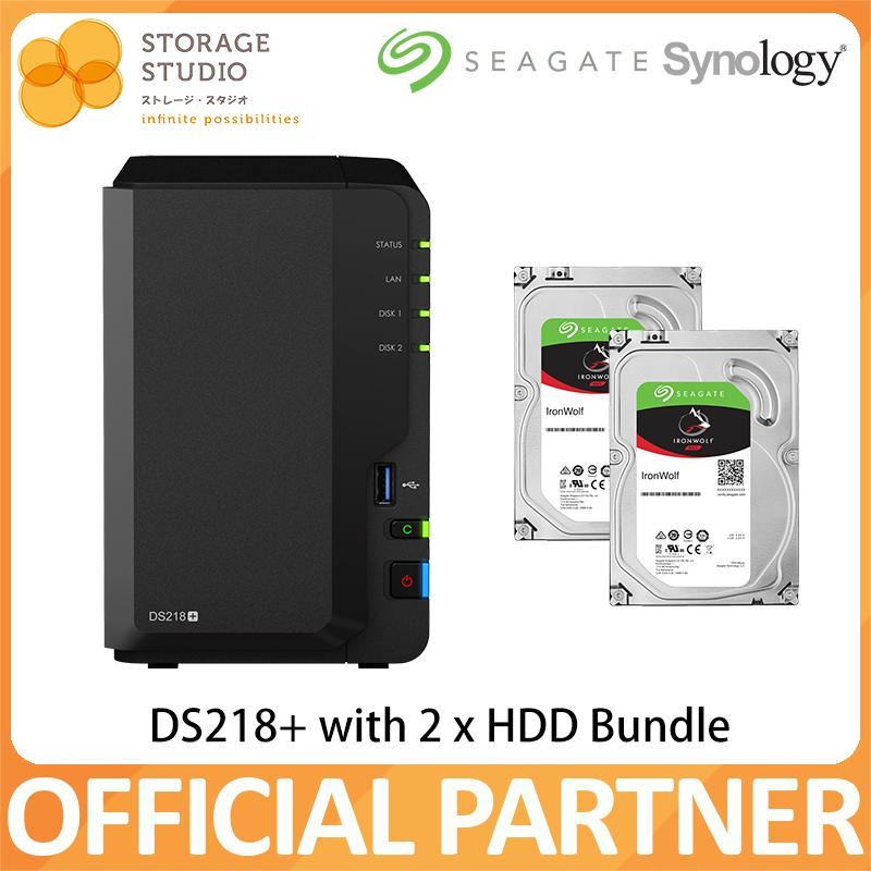 Synology Nas Ds218+ 2 Bay Nas With (2 X Seagate Ironwolf Hdd Bundle Series). Warranty: 2 Years. Local Warranty. ** Synology Official Partner** By Storage Studio (s) Pte Ltd.