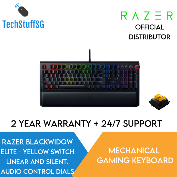 Razer Blackwidow Elite Mechanical Gaming Keyboard (Yellow/Green/Orange) Singapore