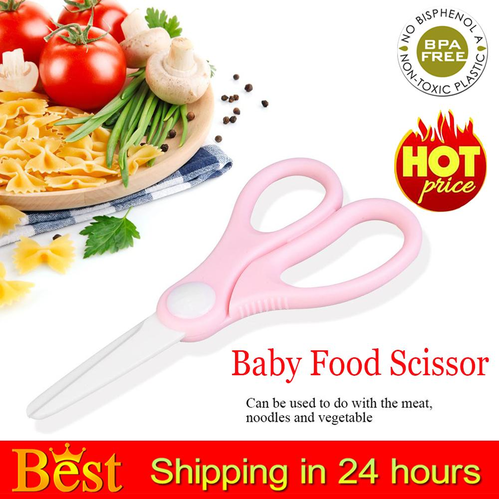 【flash Deal】❤️light Weight Portable Anti-Slip Scissor For Baby Infant Complementary Food By Wondershop A.