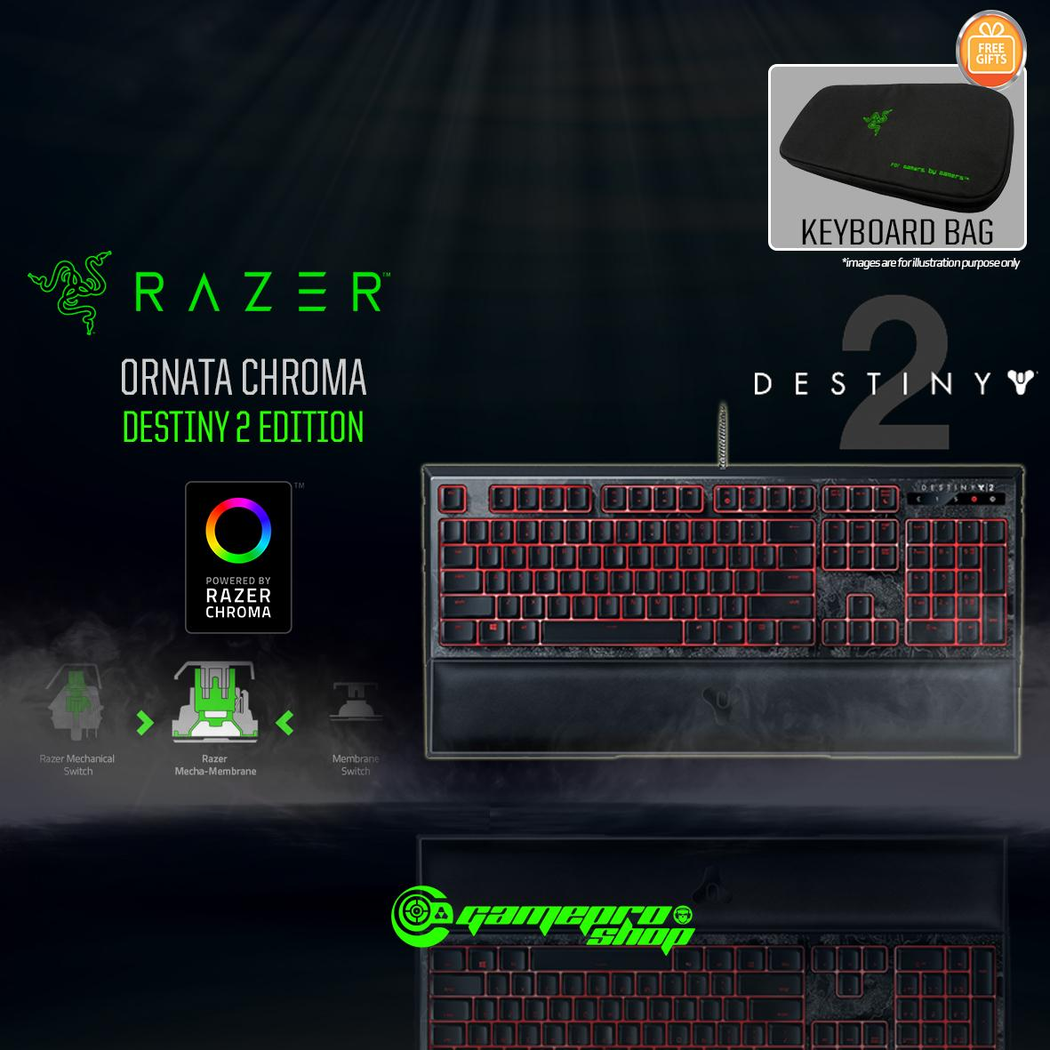 Destiny 2 Razer Ornata Chroma - Multi-color Membrane Gaming Keyboard *COMEX  PROMO*