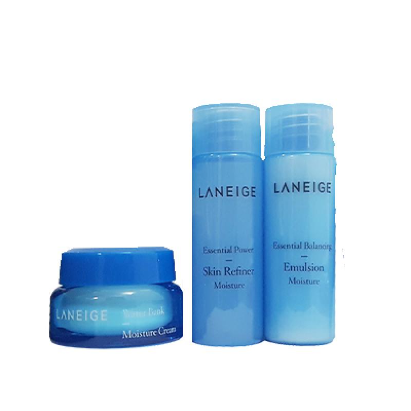 Buy Laneige Essential Power Balancing Emulsion 25ml + Skin Refiner 25ml + Moisture Cream 10ml (Moisture) Singapore