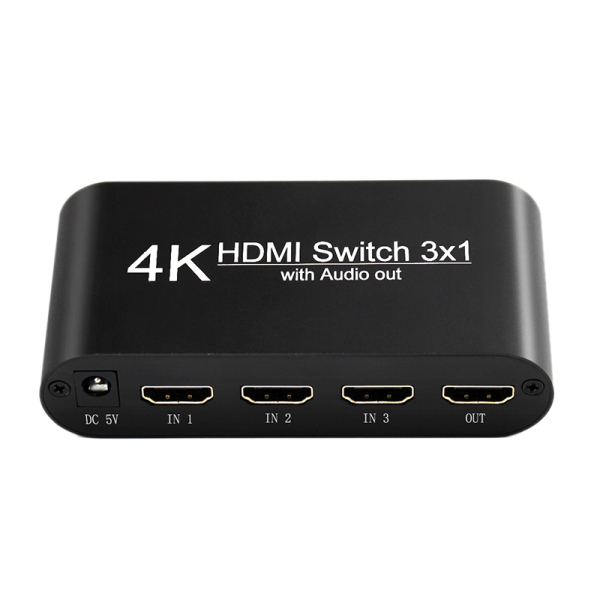 Bảng giá 4K HDMI Switch Audio Splitter 3 in 1 Out Extractor Adapter for XBOX 360 PS4 Smart Android HDTV Phong Vũ