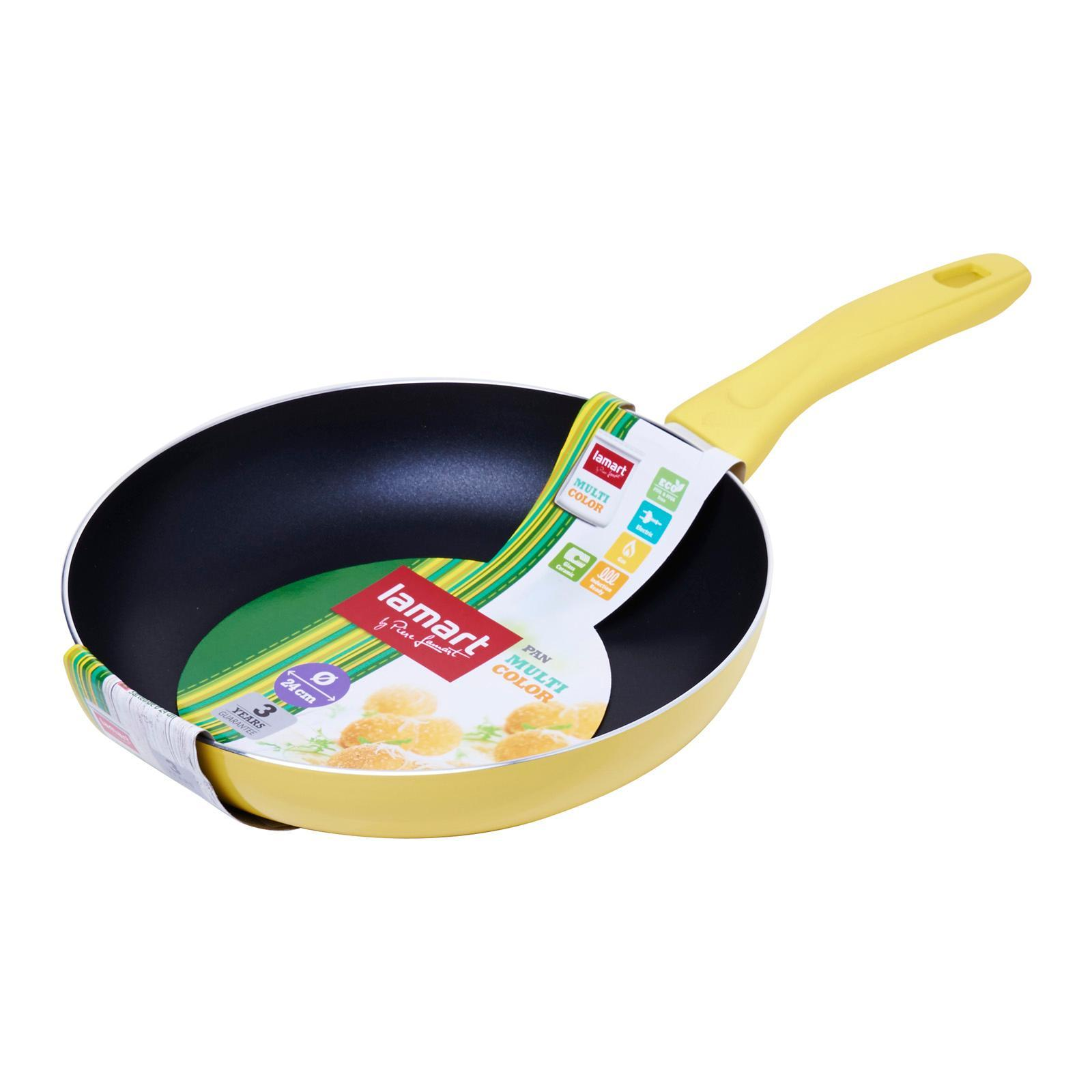 Lamart Induction Ready Non-Stick Fry Pan 24X4.7Cm - Yellow