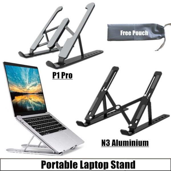 [SG Seller] Portable Laptop Stand Foldable Adjustable Support Base Non-slip Notebook Holder