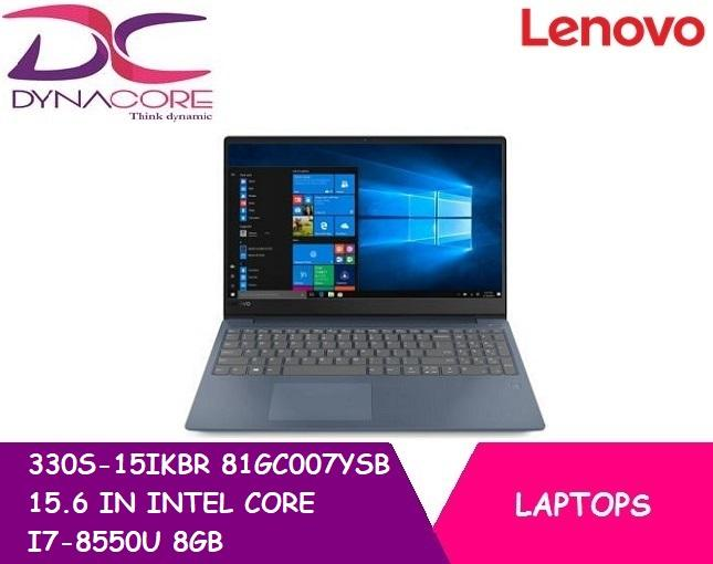 LENOVO 330S-15IKBR 81GC007YSB 15.6 IN INTEL CORE I7-8550U 8GB 512GB PCIE SSD WIN 10
