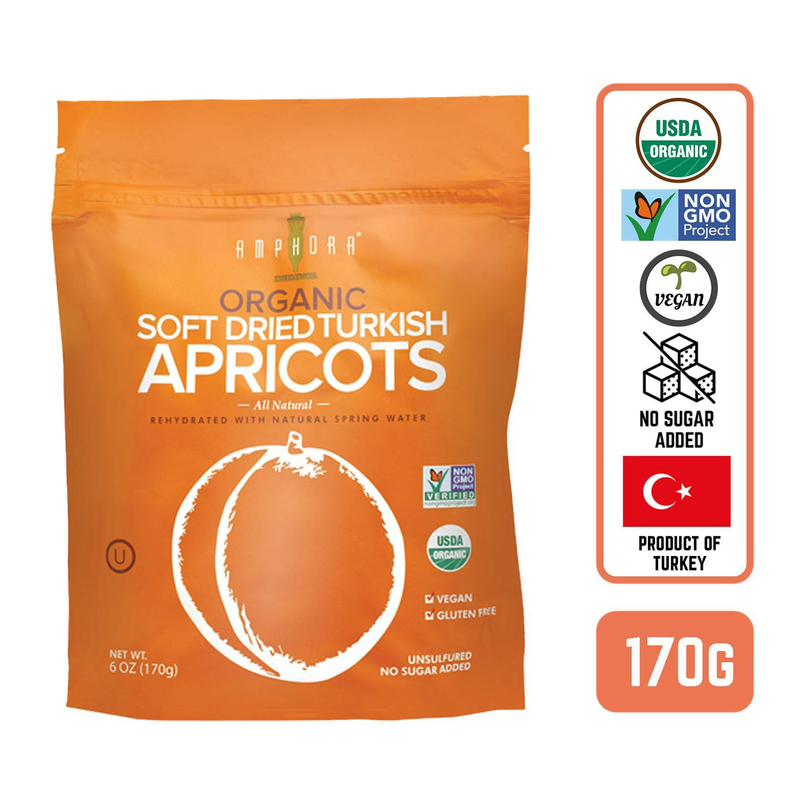 Amphora Organic Soft Dried Turkish Apricots - By Foodsterr