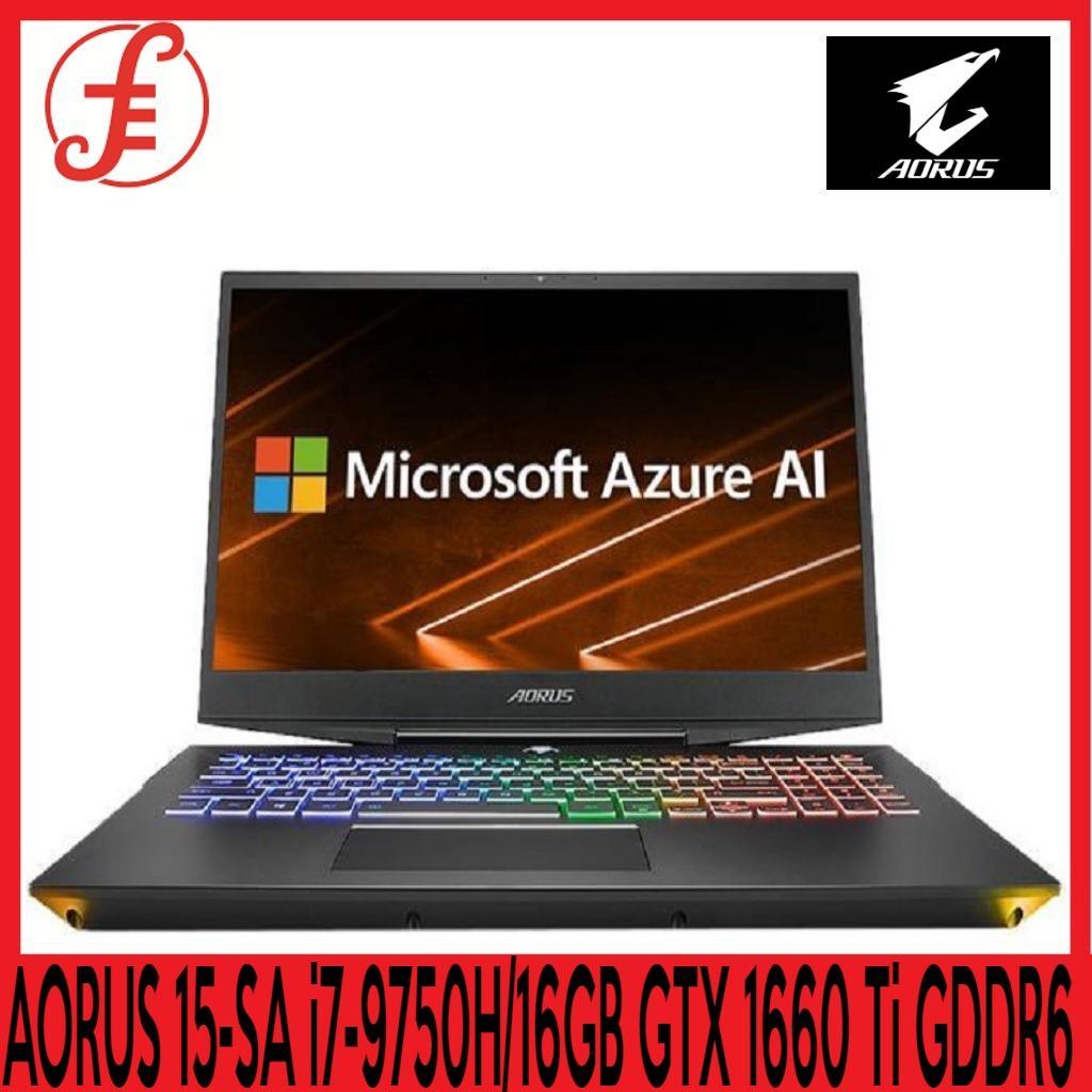 GIGABYTE AORUS 15-SA LG 144Hz FHD (i7-9750H/16GB SAMSUNG DDR4 2666 (8GB*2)/GeForce GTX 1660 Ti GDDR6 6GB/512GB INTEL 760P PCIE SSD/15.6 Thin Bezel LG 144Hz FHD IPS/WINDOWS 10 HOME (AORUS 15-SA)