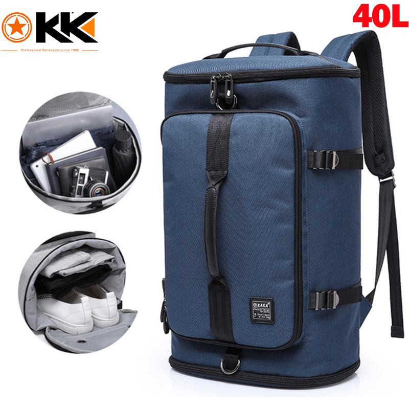 KAKA Large Capacity 40L 50L Travel Bags 17.3 inch Laptop Backpack Men Backpack Outdoor Nylon Luggage Bag