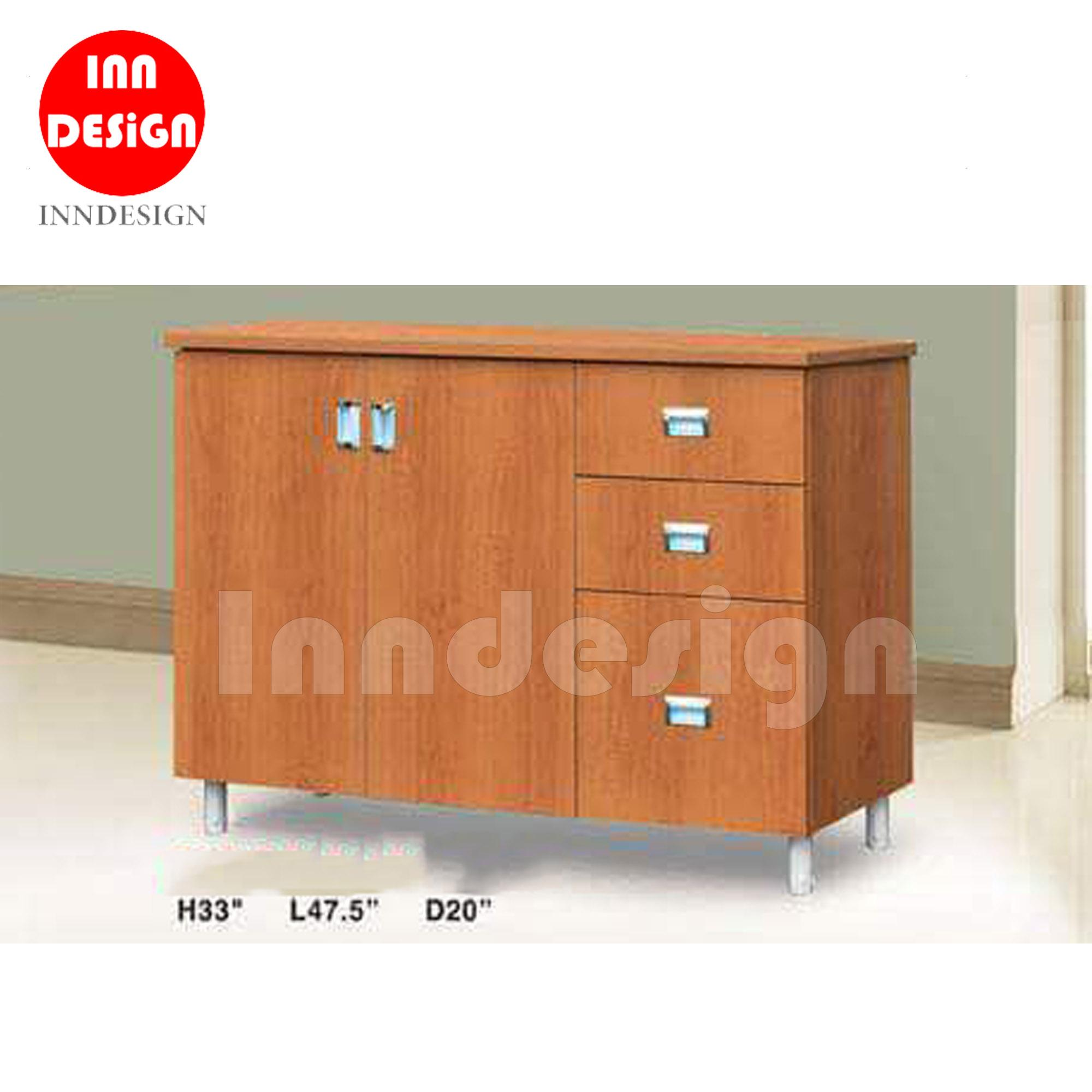 Lala Kitchen Cabinet with Plain Table Top