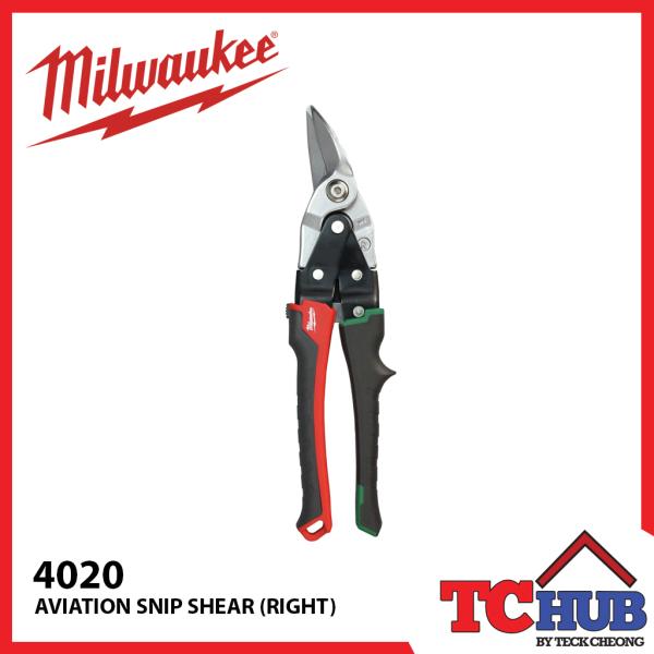 Milwaukee 4020 Aviation Snips (Right)