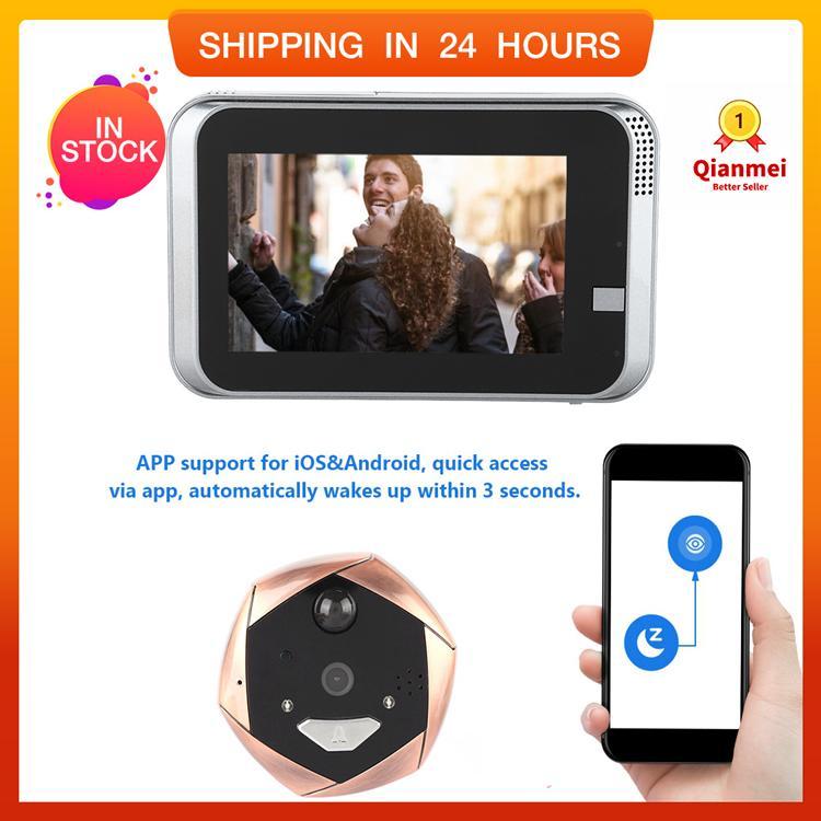 Qianmei 720p Wifi Smart Peephole Video Doorbell Security Real-Time Video Camera By Qianmei.