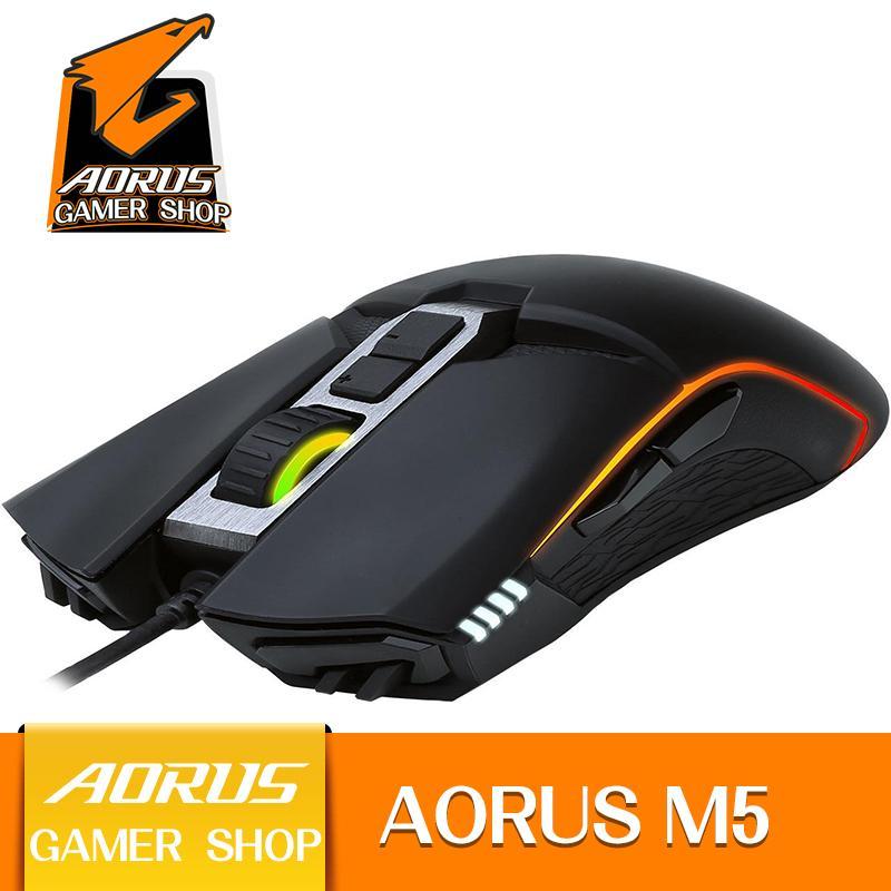 GIGABYTE AORUS M5 GM-AORUS M5 Matte Black 1 x Wheel USB Wired Optical 16000 dpi Gaming Mouse Pixart 3389