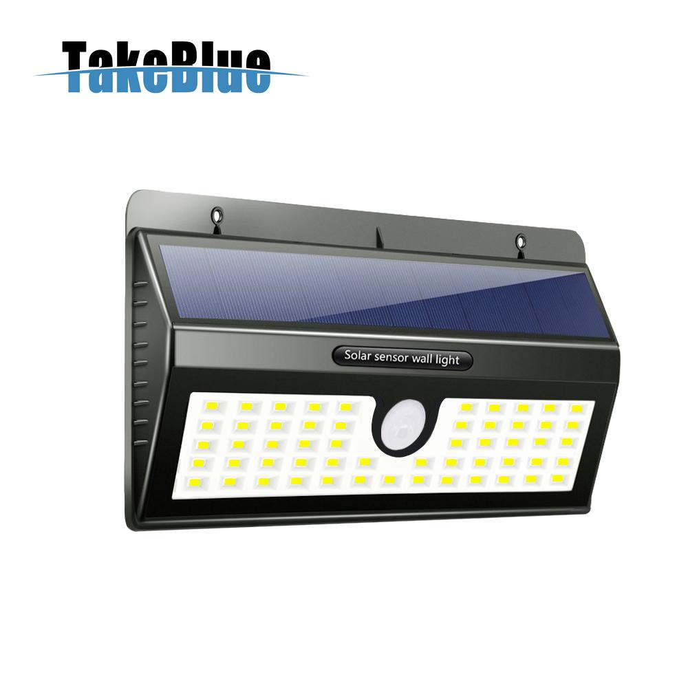 TakeBlue 3 Intelligent Mode Motion Sensor Solar Light , 55 LED Waterproof Solar Panel Outdoor Lamp