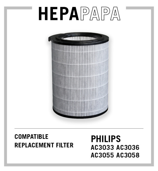 Philips Compatible Filter for AC3033 AC3036 AC3055 AC3058 Suitable for Filter Models FY3140 FY3430 [Free Alcohol Swabs] [HEPAPAPA] Singapore