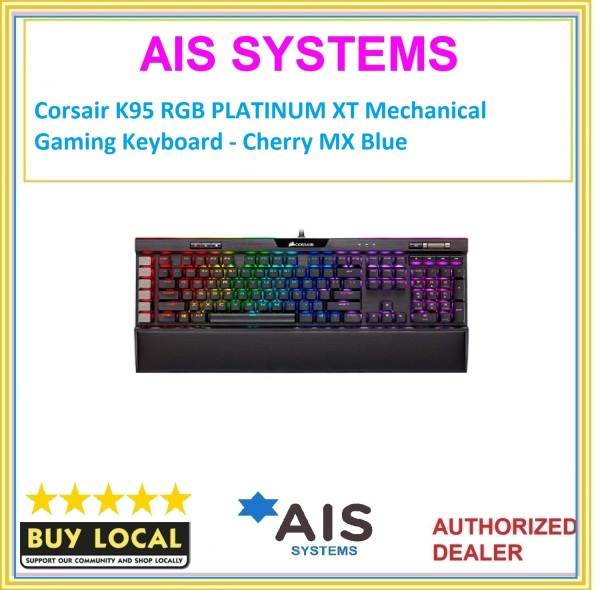 Corsair K95 RGB PLATINUM XT Mechanical Gaming Keyboard - Cherry MX Blue Singapore