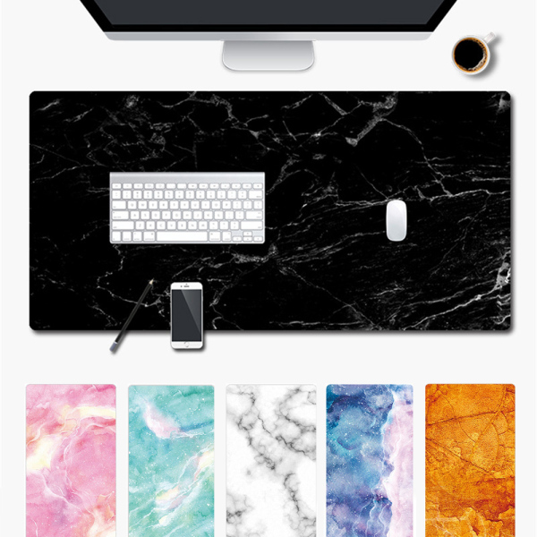 igtx 1PC Soft Marble Grain Mouse Pad Office Computer Desk Mat Modern Table Game Keyboard Laptop Cushion Large