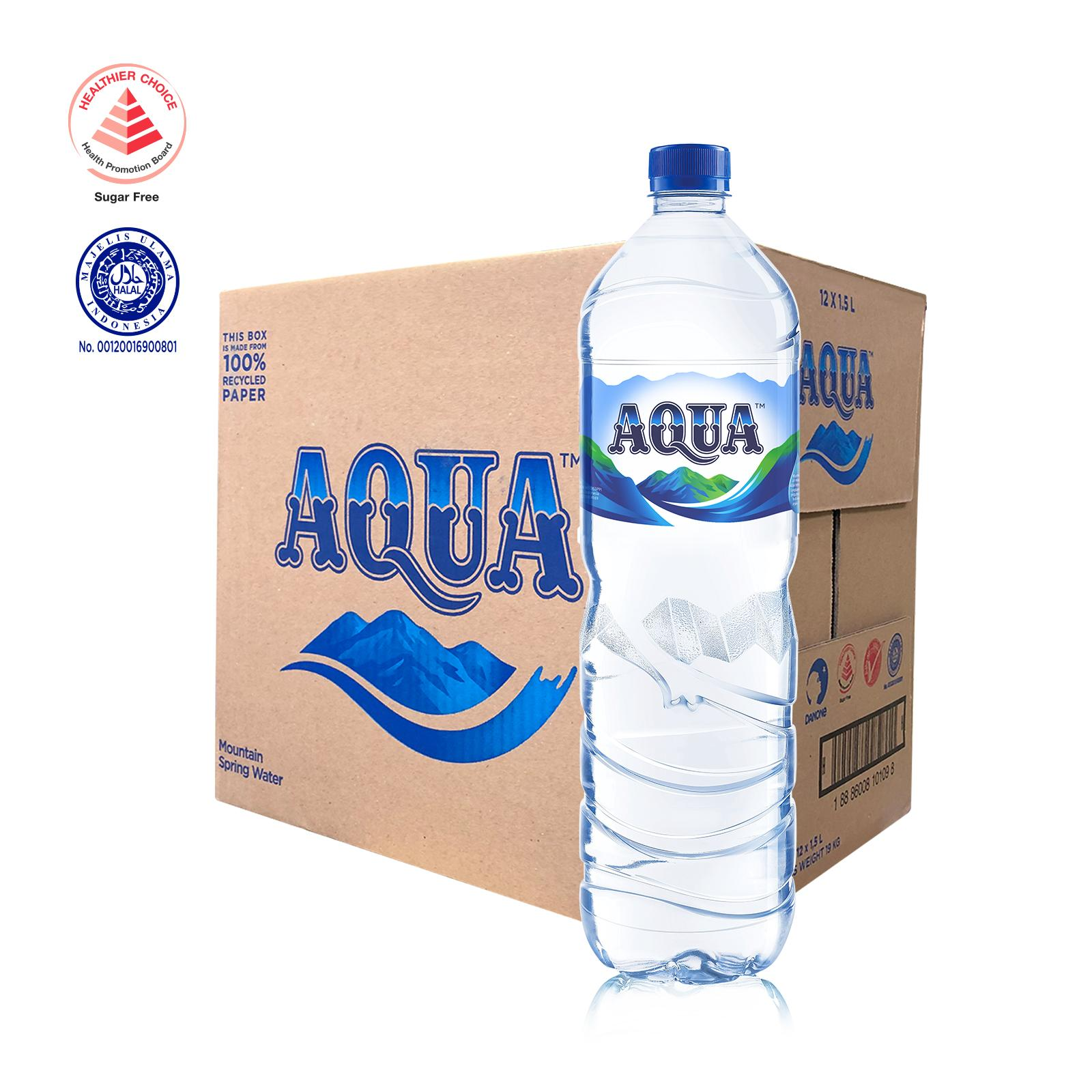 AQUA Mountain Spring Water - Case