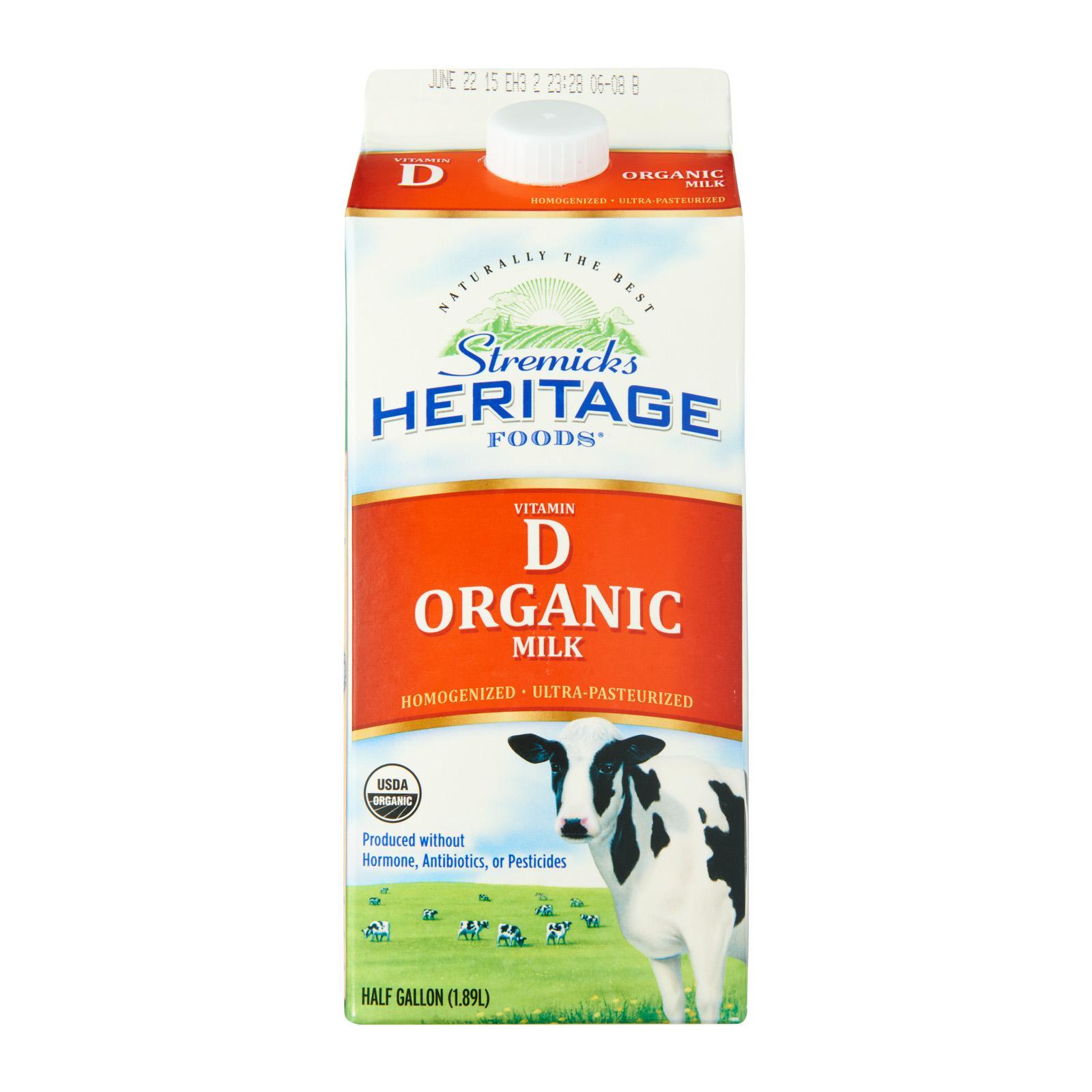 Stremicks Heritage Organic Milk Vitamin D
