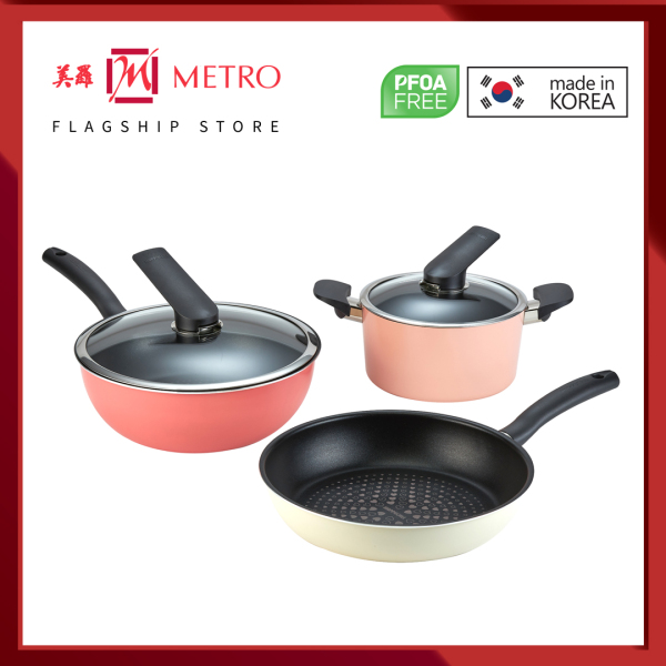 Happycall Cheer Up 5-PC Cookware Set (Made In Korea) 4900-0086 Singapore
