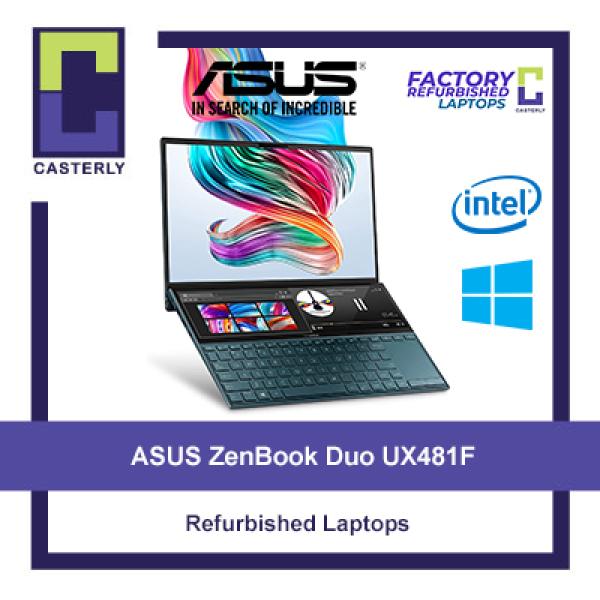 [Refurbished] ASUS ZenBook Duo UX481F / i7-10510U / 16GB Ram / 1TB SSD / MX250 / Windows 10