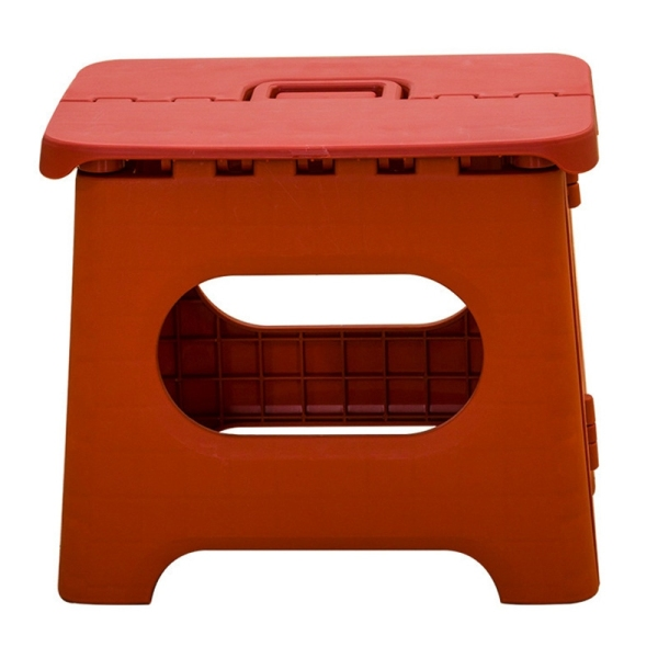 Portable Fold Stool Household Foldable Solid Color Small Stool Shower Room Children Fold Stool Outdoors Portable Campstool Red