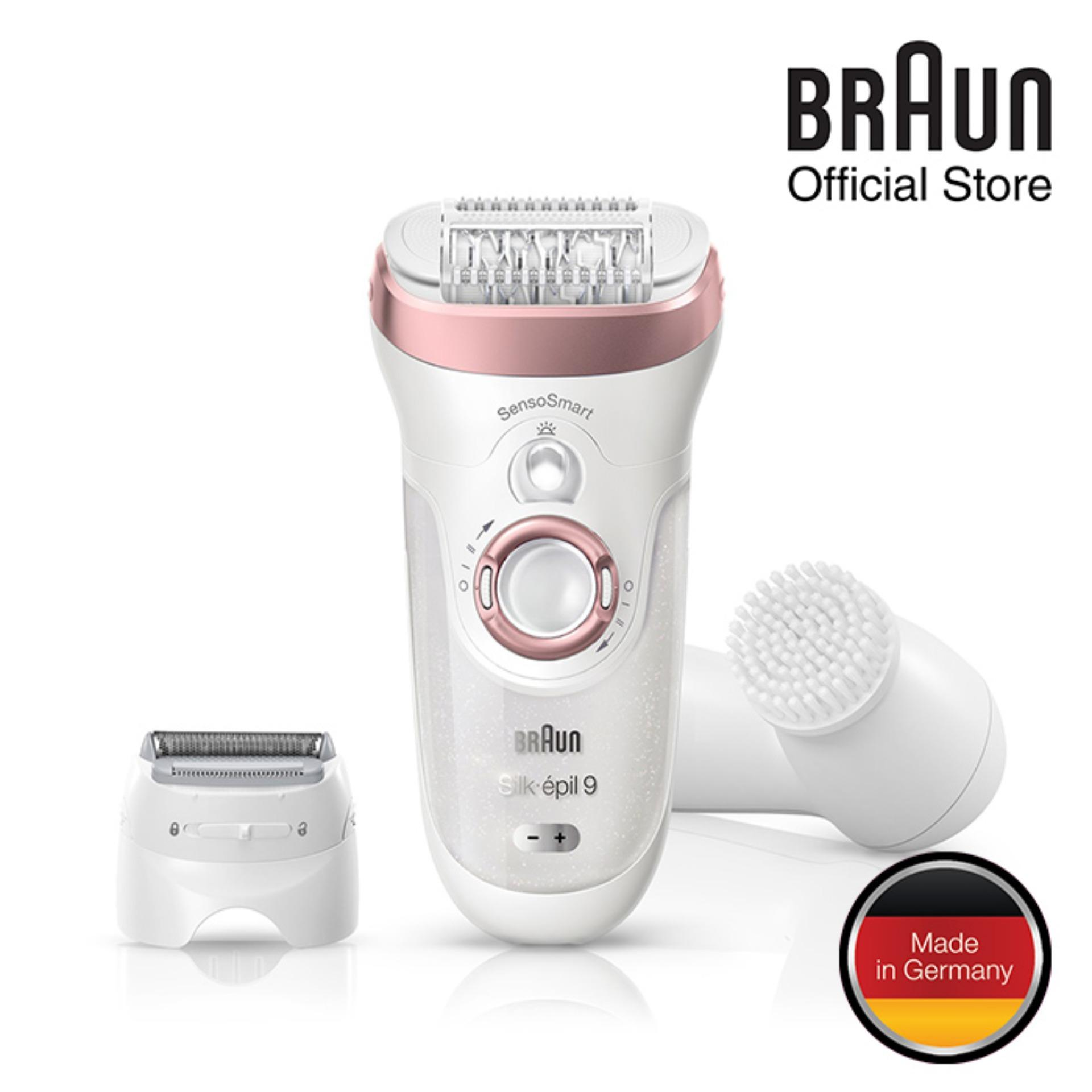 Braun Silk-épil 9 9880 Senso Smart™ Epilator Rose Gold - Cordless Wet & Dry Epilator With 7 Extras By Braun Official Store.