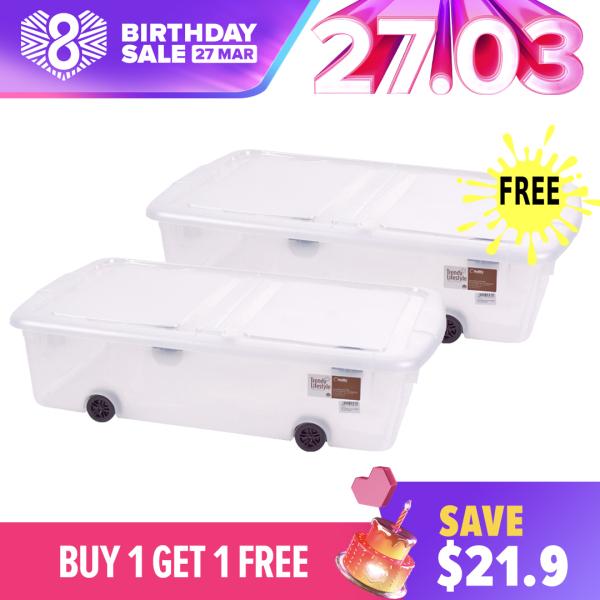 [Buy 1 Get 1 Free] - Citylife - Underbed Storage With Wheels 44L