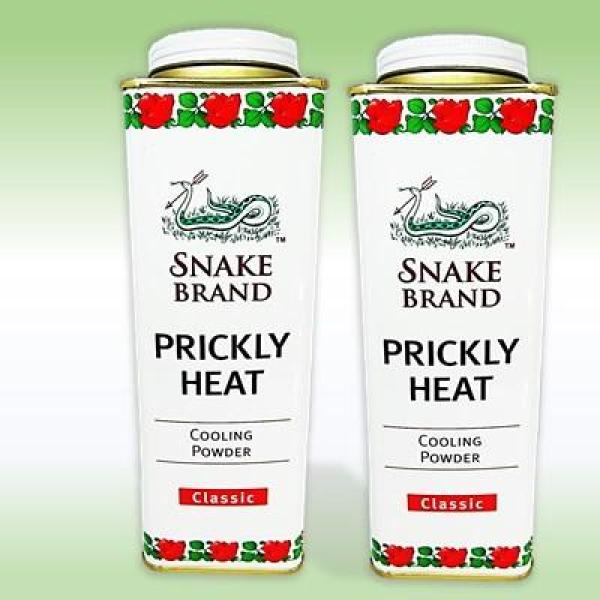 Buy [2 Bottles] Snake Brand Prickly Heat Cooling Powder Classic Original 280 grams Singapore