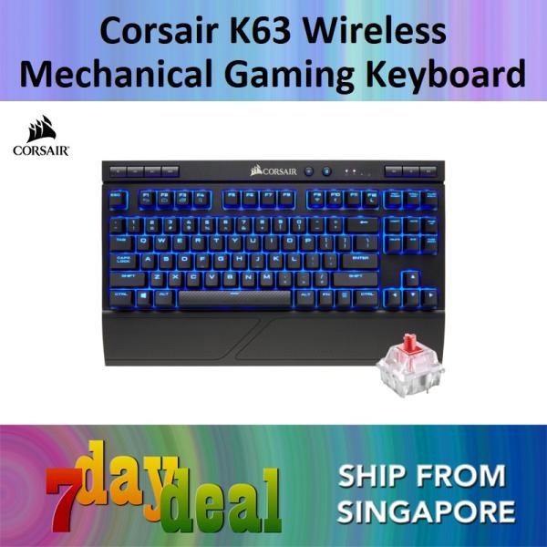 Corsair K63 Wireless Mechanical Gaming Keyboard (Blue LED) — CHERRY MX Red Singapore