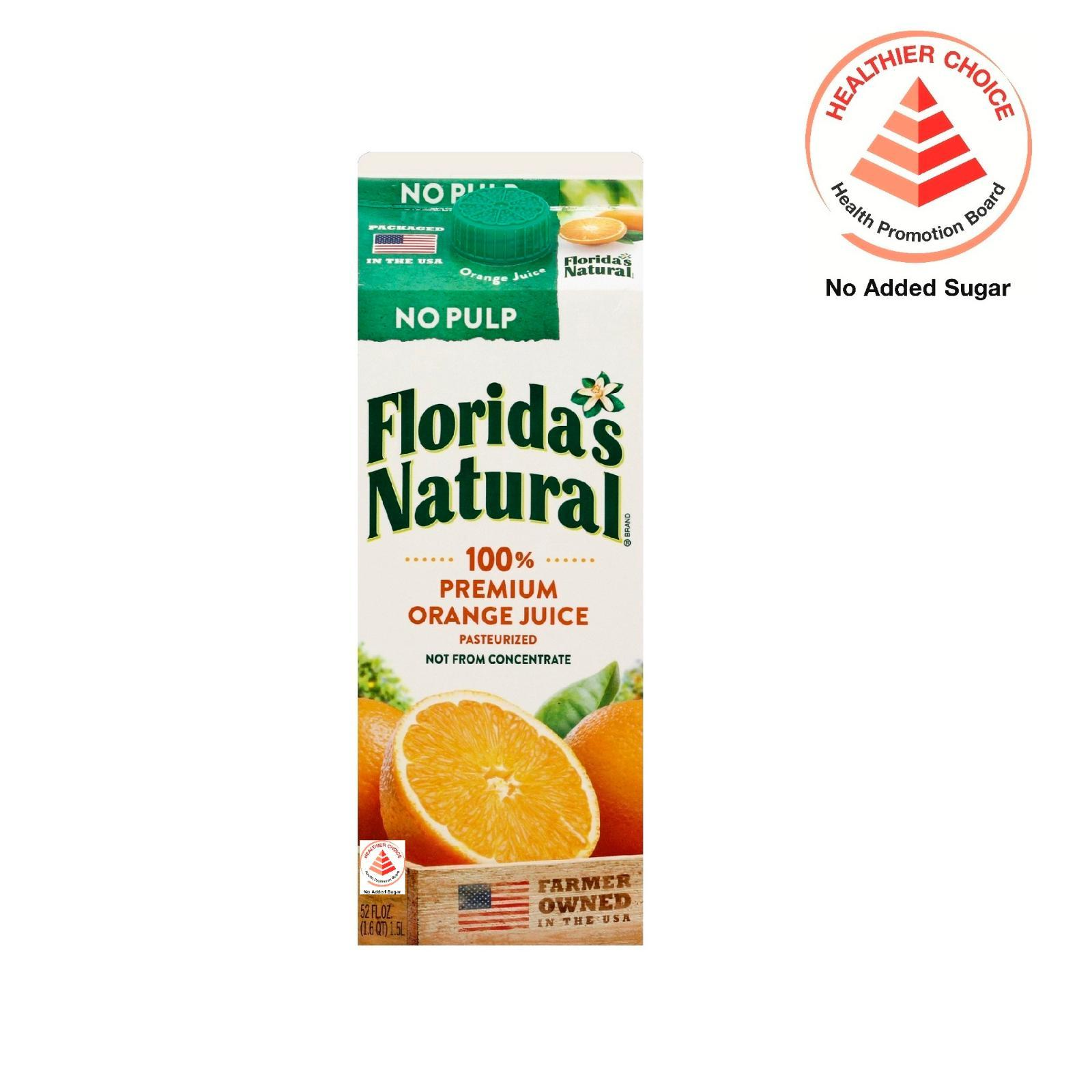 Floridas Natural Nfc Premium (no Pulp) Orange Juice By Redmart.