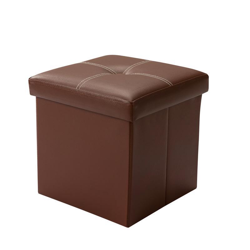 Ottoman PU Leather Storage Box / Sofa Seat Stool Organizer Bench Home Living