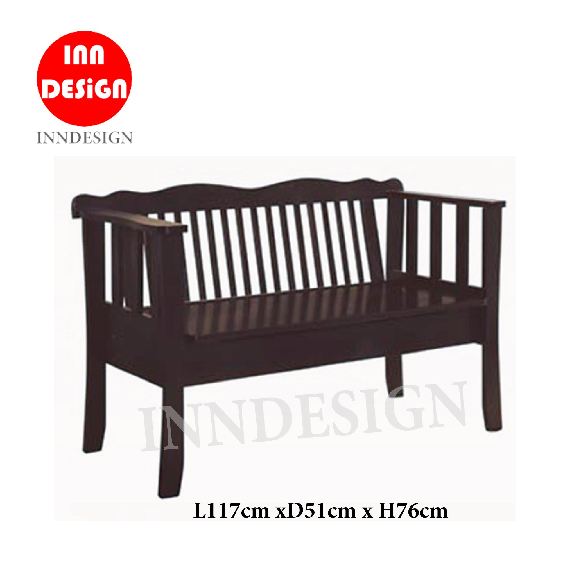 INNDESIGN Solid Wooden Bench Chair (Free Delivery and Installation)