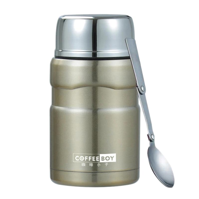 Coffee Boy Thermo For Food Container Vacuum Flasks With Spoon Stainless Steel Thermo Cup