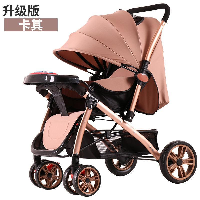 Ggx 9912 High Landscape Baby Stroller Can Sit Armchair Folded Suspension Portable Two-Way Children Cart Singapore