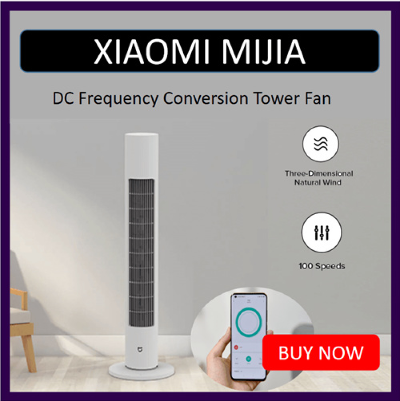 Original Xiaomi Mijia DC Frequency Conversion Tower Fan Summer Cooling Bladeless Air Conditioner Cooler for Smart MI Home Office Singapore