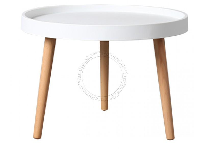 (FurnitureSG) Minimalist Coffee Table (Black/White)