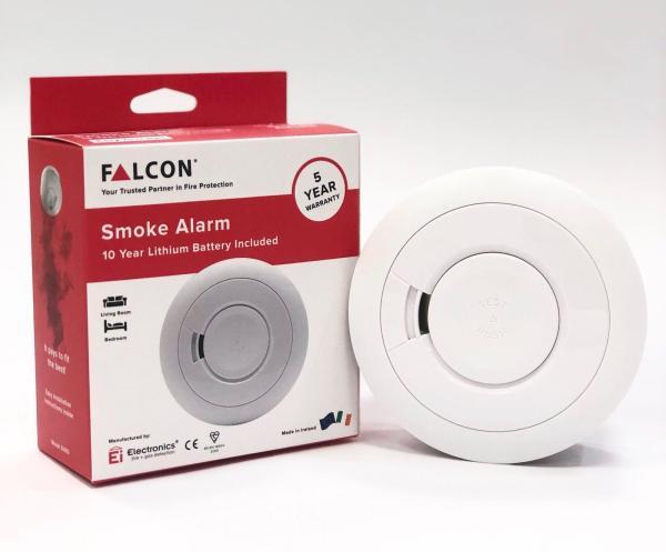 Falcon Smoke Alarm include 10 Yr Lithium Battery