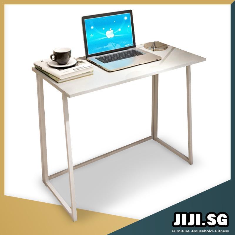 (JIJI SG) Minimalist Full Utility Foldable Table 80 x 45 x 74 Cm  - Study Table / Office Table/ Desktop Table/ Computer Table/ Laptop Table/Desk/Study Desk /Home Table / (SG)