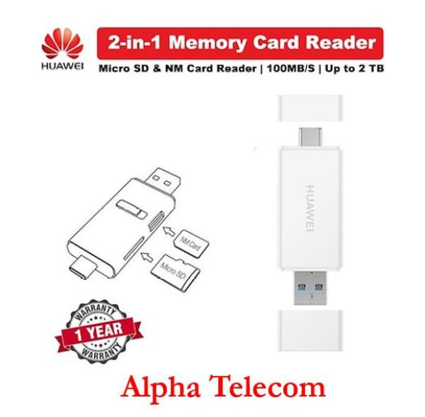 HUAWEI Type C Dual Port 2 in 1 Memory Card Reader Multi-Function NM Nano Reader** Local 1 year warranty*