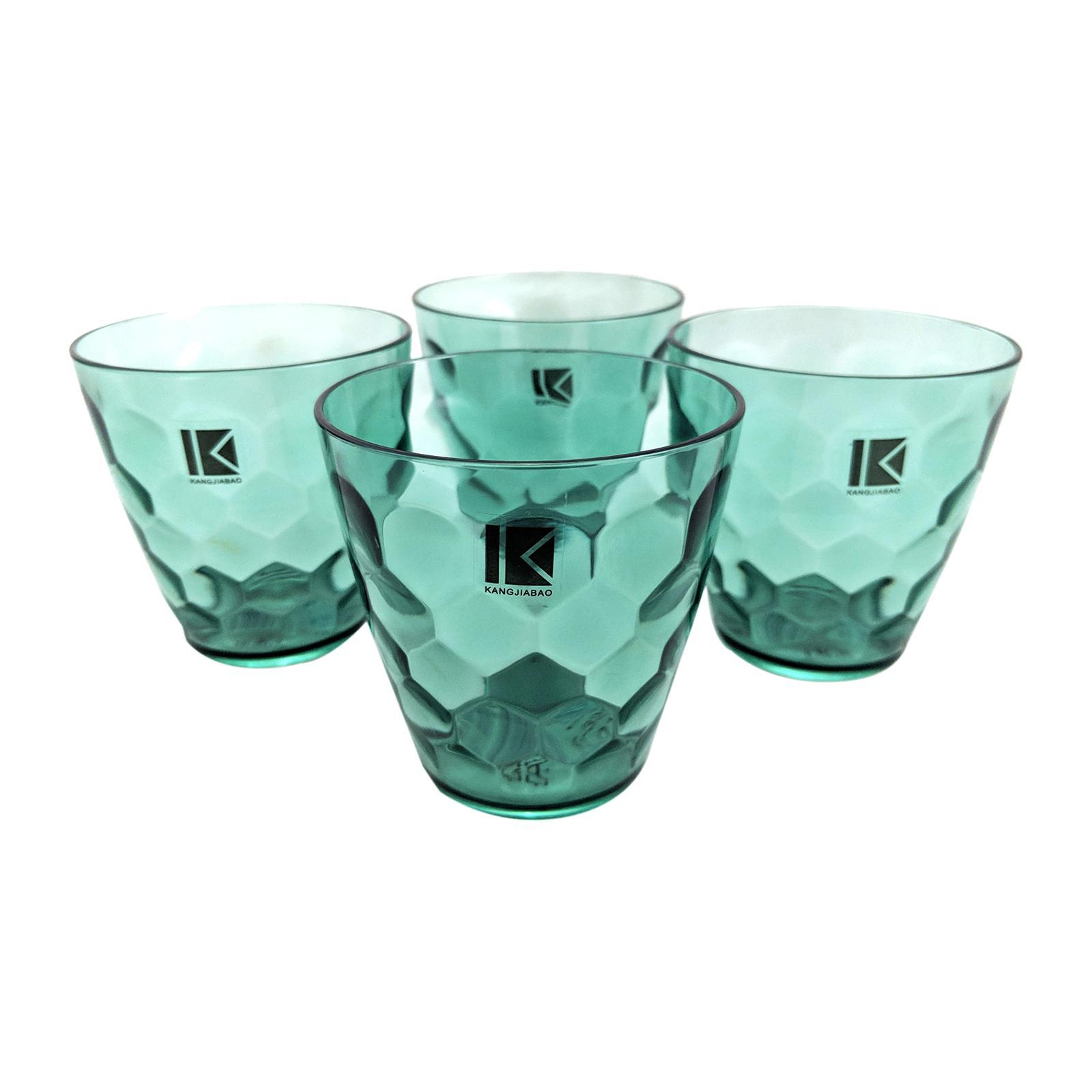 KangjiaBao Plastic Tumbler 330 ML 4PCS Set (Green)
