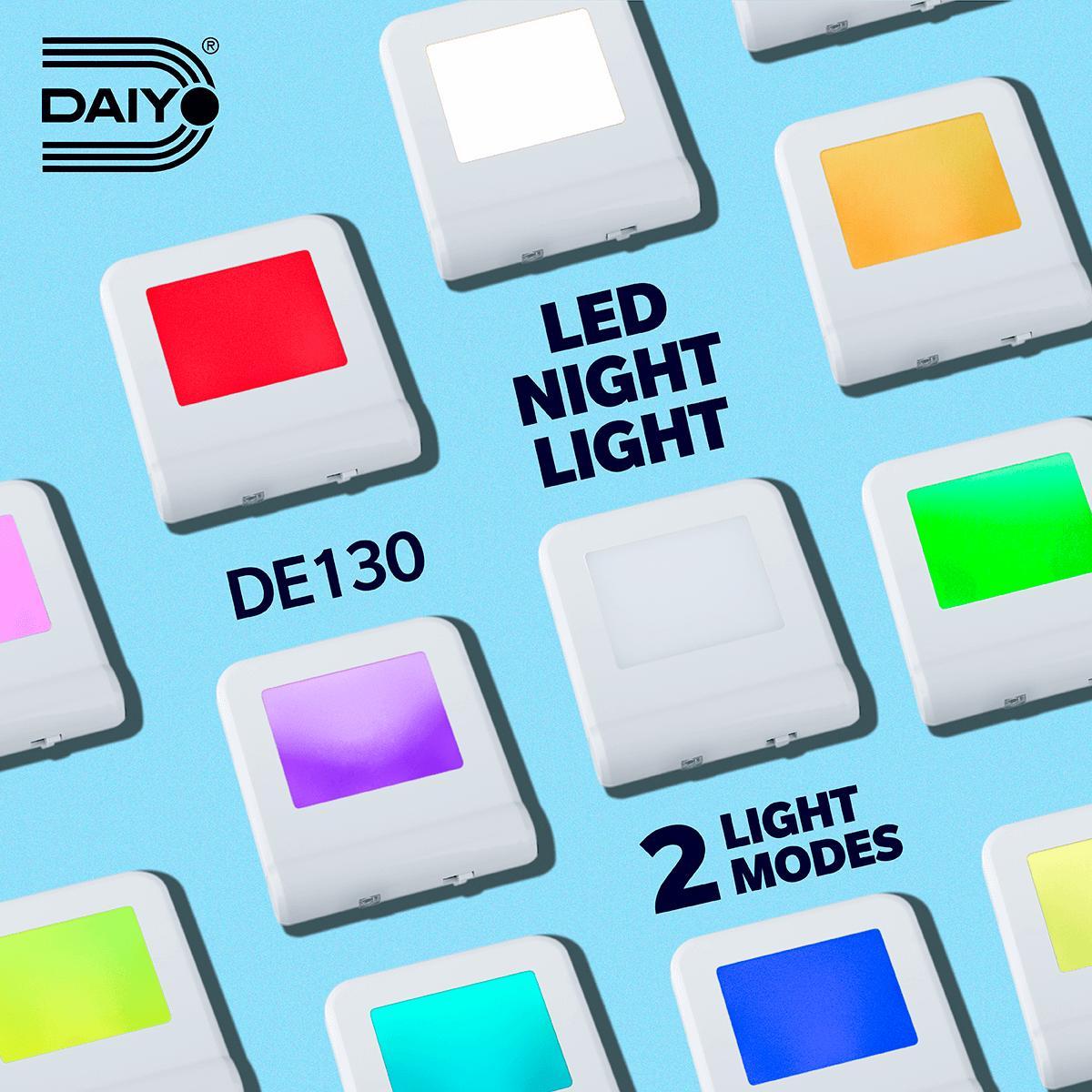 Daiyo DE130 LED Rainbow Colour Night Light