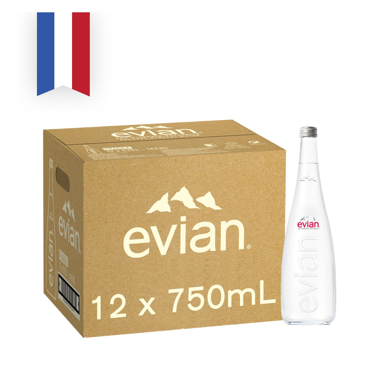 Evian Natural Mineral Water Sports Cap - Case