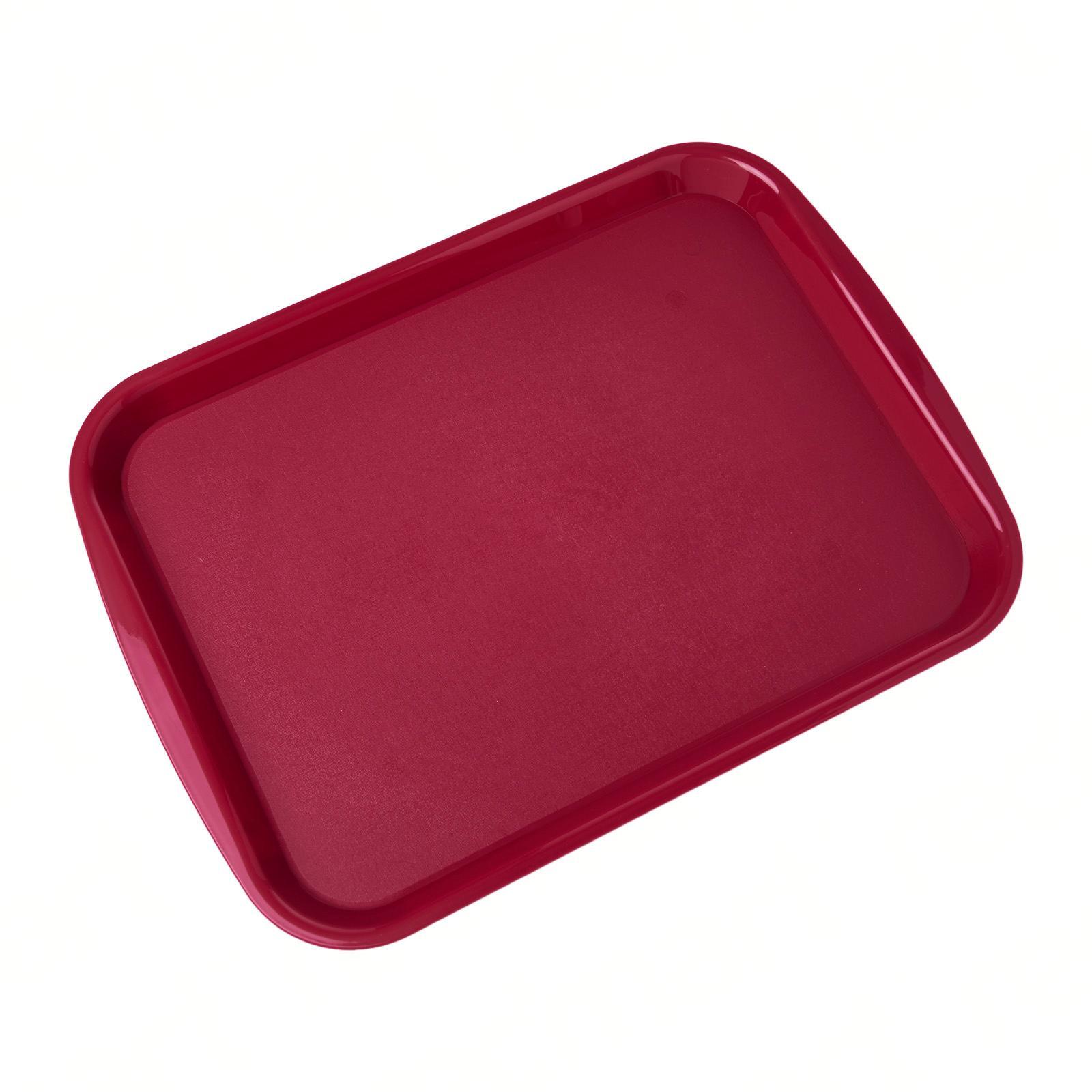 SUNNEX Fast Food Polypropylene Tray With Side Handles 36.5x27cm Burgundy