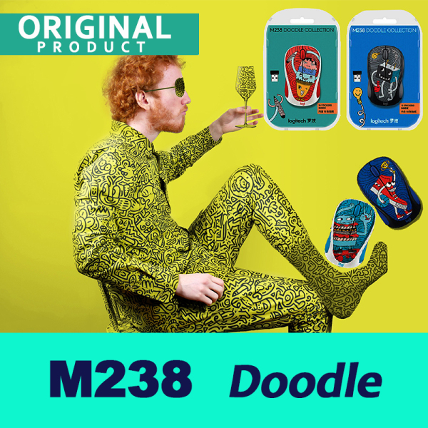 Wireless Mouse Logitech M238 DOODLE Collection Mouse Mice