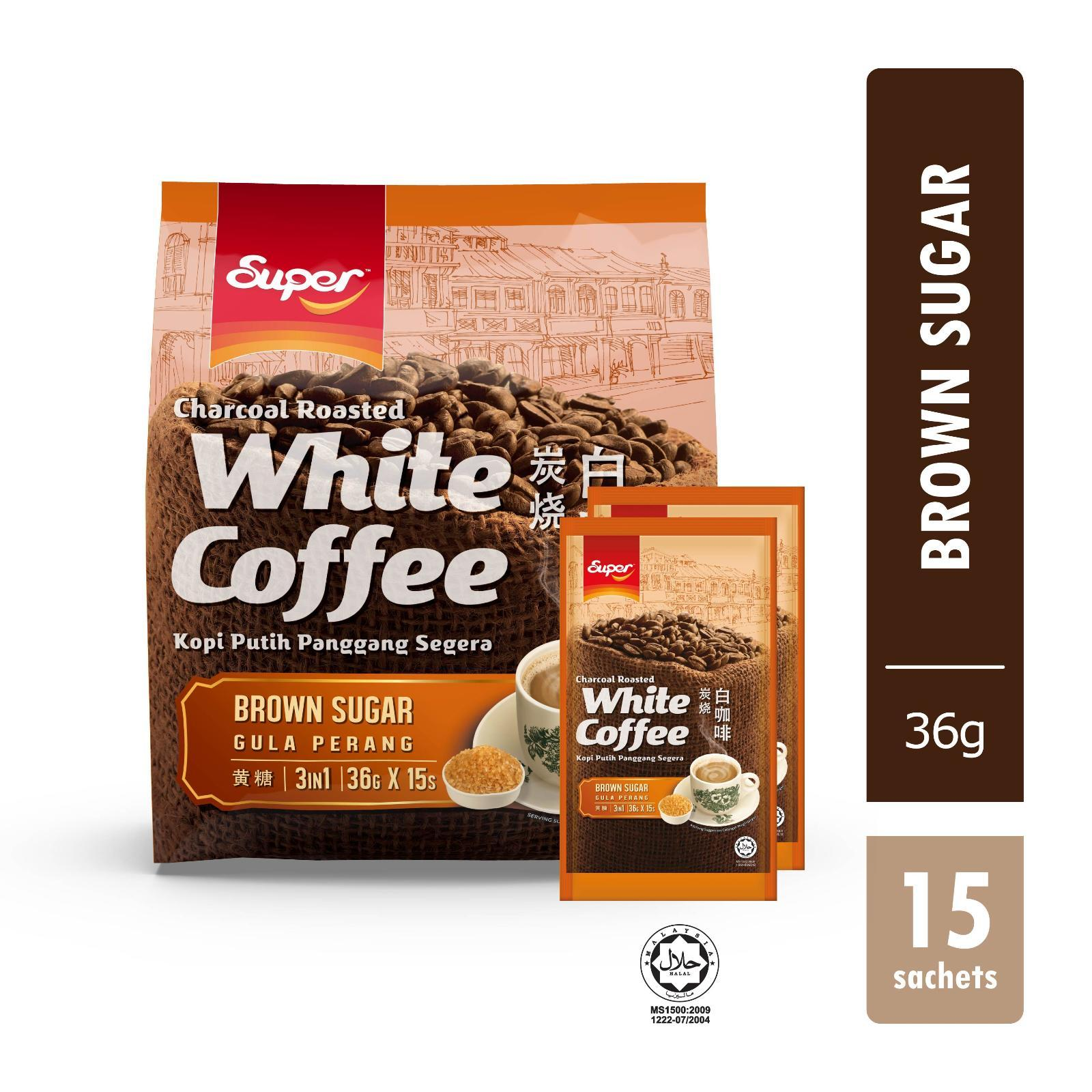Super 3-in-1 Charcoal Roasted White Coffee with Brown Sugar