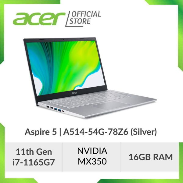 [NEW MODEL] Acer Aspire 5 A514-54G-74SM/78Z6 (Blue/Silver) - 14 FHD IPS Laptop with Latest 11th Gen i7-1165G7 Processor and 16GB RAM