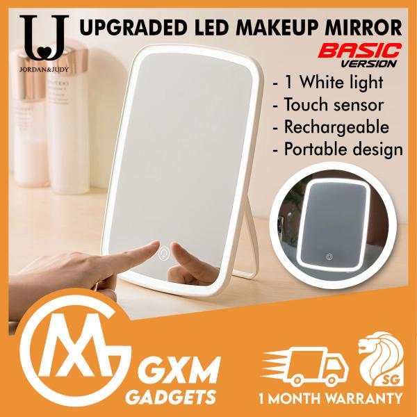 Buy Xiaomi Mijia LED Makeup Mirror Desktop Mirror Rechargeable Mirror Portable Mirror Singapore
