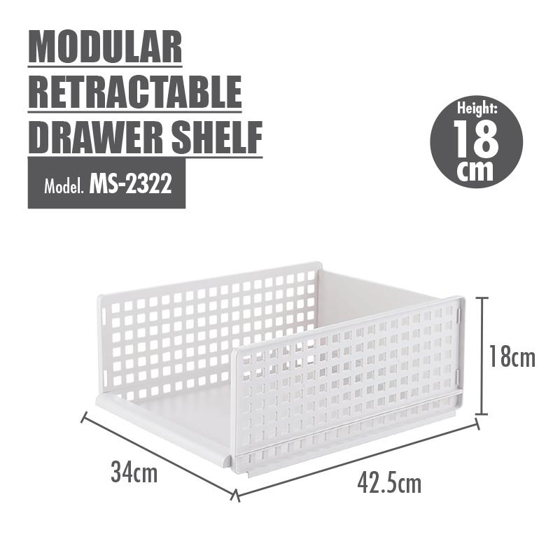 HOUZE - Modular Retractable Drawer Shelf (Height: 18cm) [BUY 2 FREE 1]