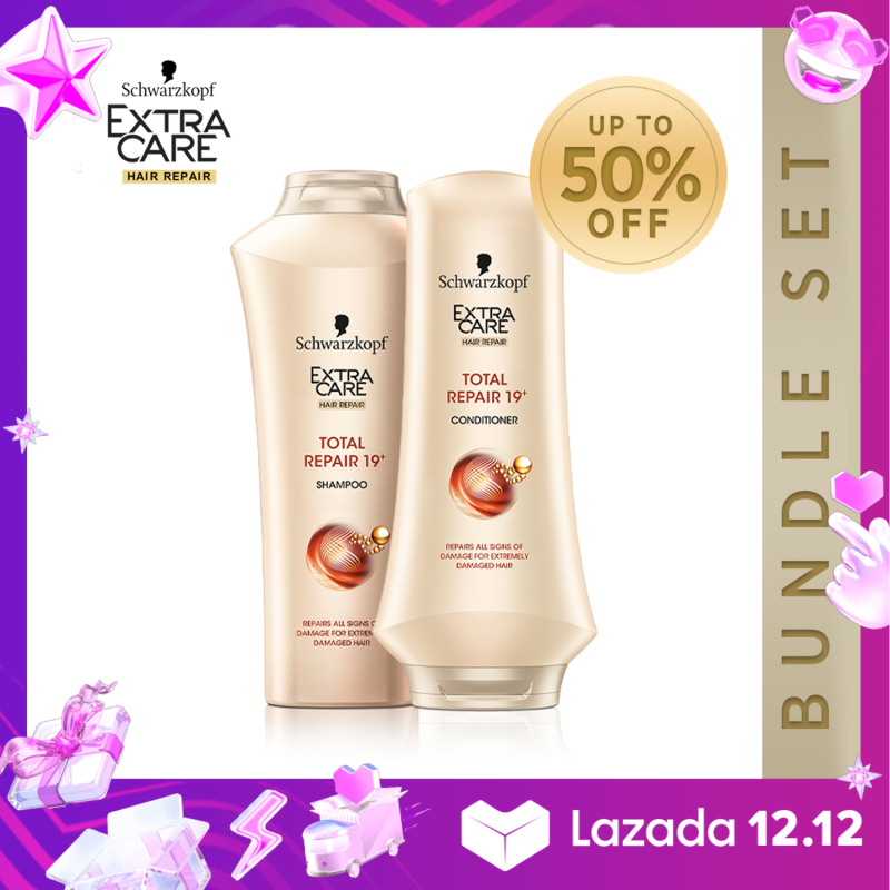 Buy Schwarzkopf Extra Care Total Repair 19 Shampoo & Conditioner Set Singapore