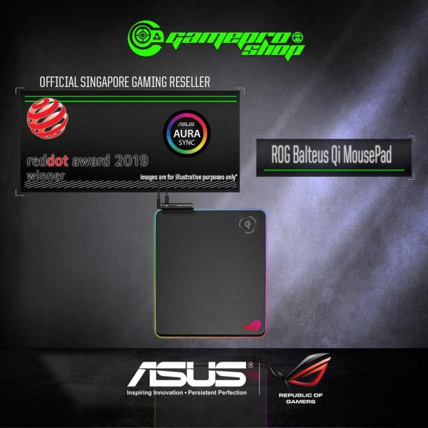 ASUS ROG Balteus Qi Gaming Mousemat - 90MP0120-B0UA00 (2Y)